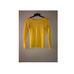 American Eagle yellow long sleeved shirt